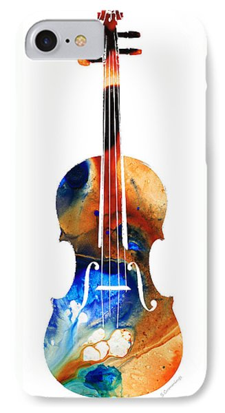 Violin Art By Sharon Cummings IPhone 7 Case by Sharon Cummings