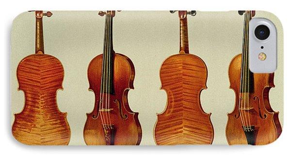 Violins IPhone 7 Case by Alfred James Hipkins