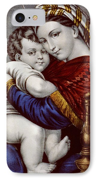 Virgin And Child Circa 1856  Phone Case by Aged Pixel