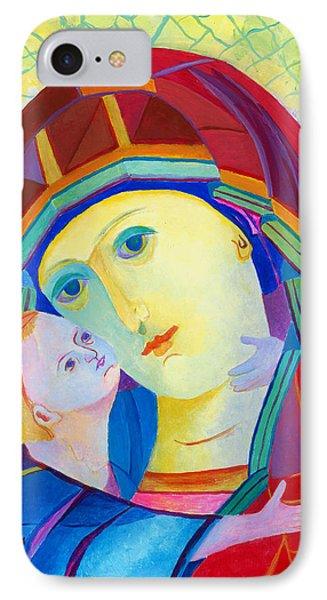 Vladimir Virgin Mary And Child, Mother Mary Madonna With Child. Polish Catholic Art  IPhone Case by Magdalena Walulik