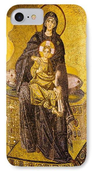 Virgin Mary With Baby Jesus Mosaic Phone Case by Artur Bogacki