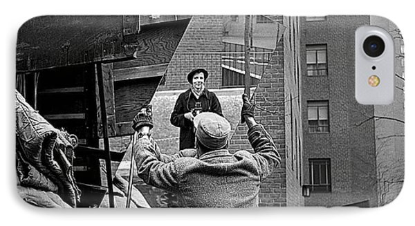 Vivian Maier Self Portrait Probably Taken In Chicago Illinois 1955 IPhone Case by David Lee Guss