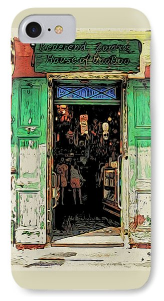 Voodoo Shop New Orleans IPhone Case by Rebecca Korpita