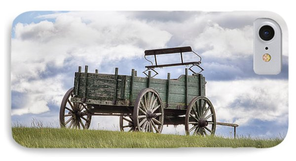 Wagon On A Hill Phone Case by Eric Gendron