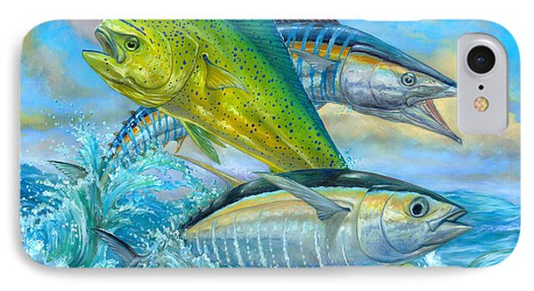 Wahoo Mahi Mahi And Tuna IPhone Case by Terry  Fox