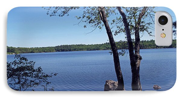 Walden Pond Saugus Ma IPhone Case by Barbara McDevitt