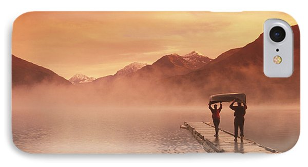 Walking On Dock Robe Lake  Sunrise Sc IPhone Case by Michael DeYoung