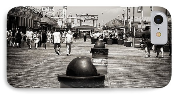 Walking The Boardwalk Phone Case by John Rizzuto