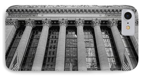 Wall Street New York Stock Exchange Nyse Bw IPhone Case by Susan Candelario