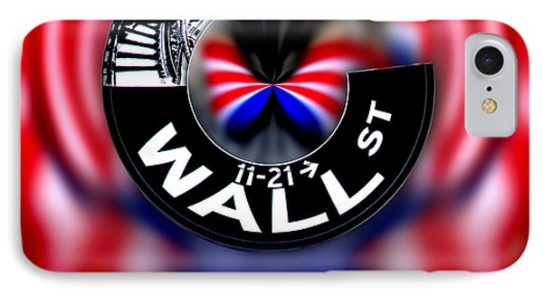 Wall Street Sign Circagraph IPhone Case by Az Jackson