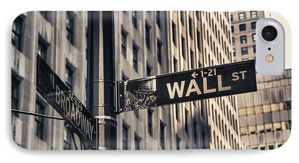 Wall Street Sign IPhone Case by Garry Gay