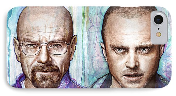 Walter And Jesse - Breaking Bad IPhone Case by Olga Shvartsur
