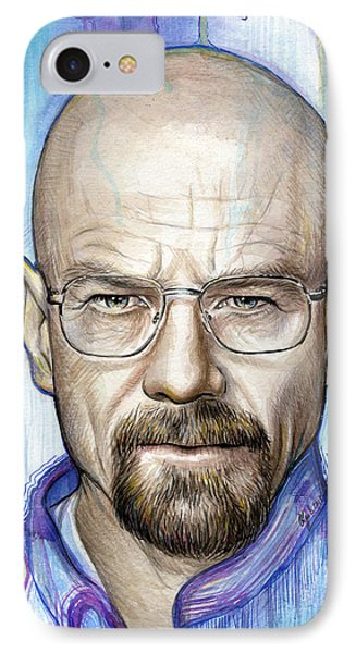Walter White - Breaking Bad IPhone Case by Olga Shvartsur