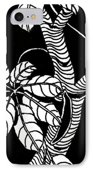 Wandering Leaves Octopus Tree Design Phone Case by Mukta Gupta
