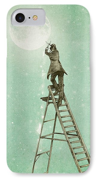 Waning Moon IPhone Case by Eric Fan