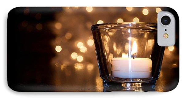 Warm Christmas Glow Phone Case by Lisa Knechtel