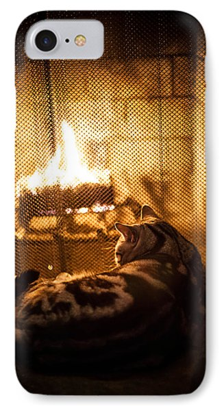 Warm Kitty IPhone Case by April Reppucci