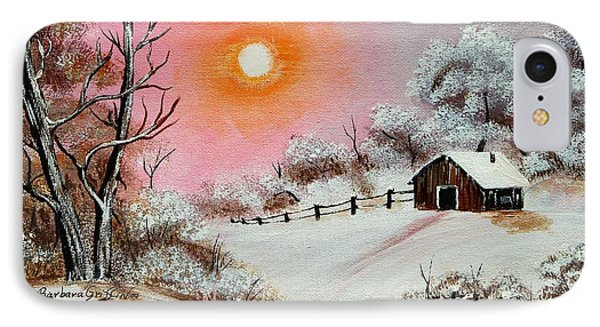 Warm Winter Day After Bob Ross Phone Case by Barbara Griffin
