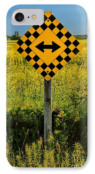 Warning - Yellow On Both Sides IPhone Case by Henry Kowalski
