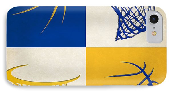 Warriors Ball And Hoop IPhone Case by Joe Hamilton