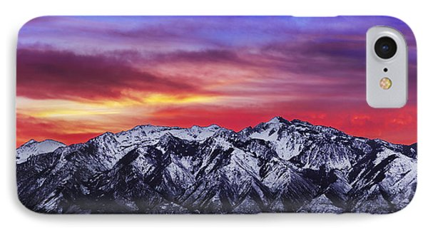 Wasatch Sunrise 2x1 IPhone Case by Chad Dutson
