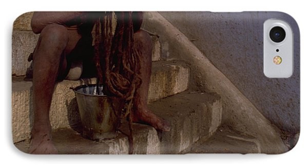 IPhone Case featuring the photograph Varanasi Hair Wash by Travel Pics