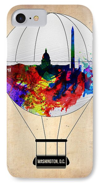 Washington D.c. Air Balloon IPhone Case by Naxart Studio