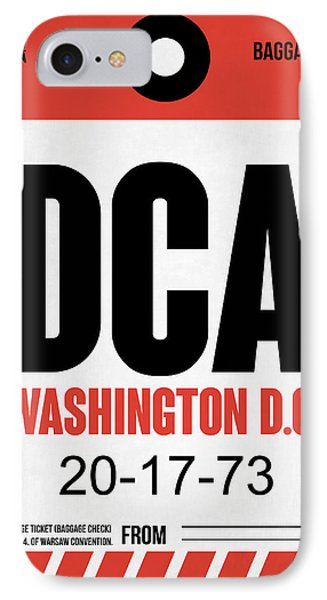 Washington D.c. Airport Poster 1 IPhone Case by Naxart Studio