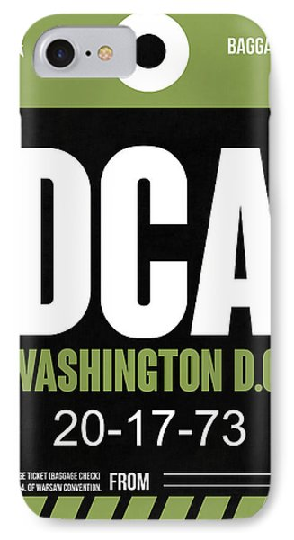 Washington D.c. Airport Poster 2 IPhone Case by Naxart Studio