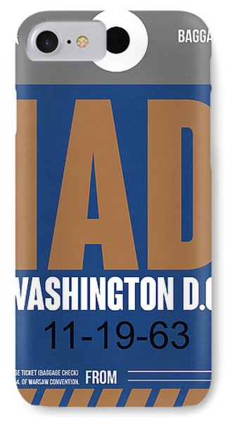 Washington D.c. Airport Poster 4 IPhone Case by Naxart Studio