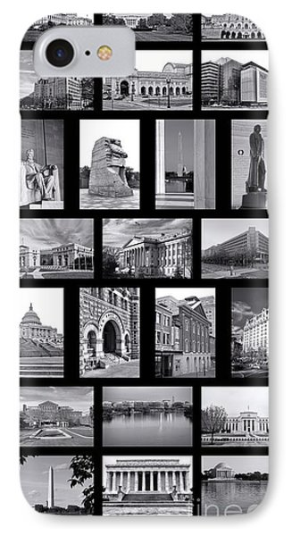 Washington Dc Poster IPhone Case by Olivier Le Queinec