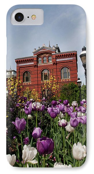 Washington Dc, Tulips At The Smithsonian IPhone Case by Lee Foster