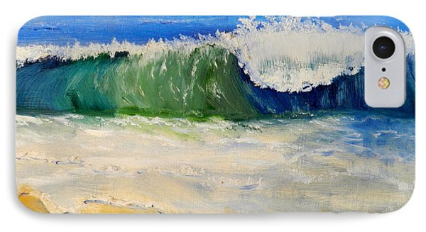 Watching The Wave As Come On The Beach Phone Case by Pamela  Meredith