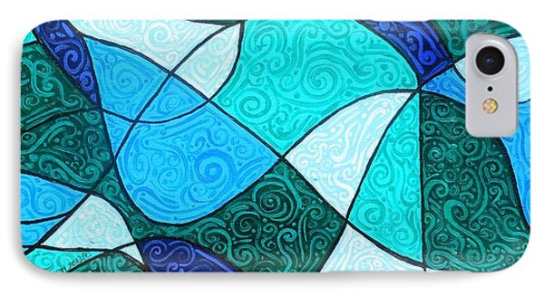 Water Abstract IPhone Case by Genevieve Esson