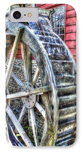 Water Wheel On Mill Phone Case by John Straton
