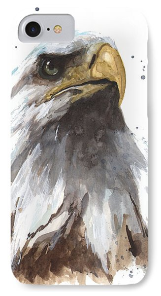 Watercolor Eagle IPhone Case by Alison Fennell