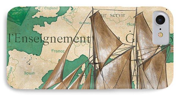 Watercolor Map 1 IPhone Case by Debbie DeWitt