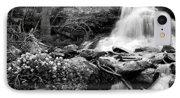Waterfall Black And White IPhone Case by Aaron Spong