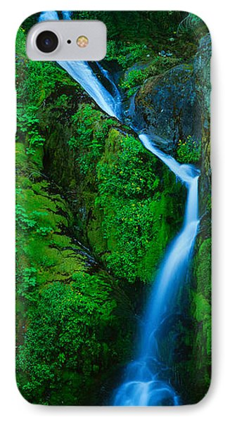 Waterfall In A Forest, Sullivan Falls IPhone Case by Panoramic Images