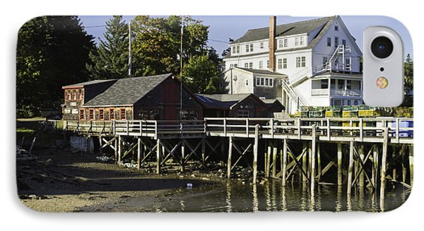 Waterfront Pier In Tenants Harbor Maine IPhone Case by Keith Webber Jr