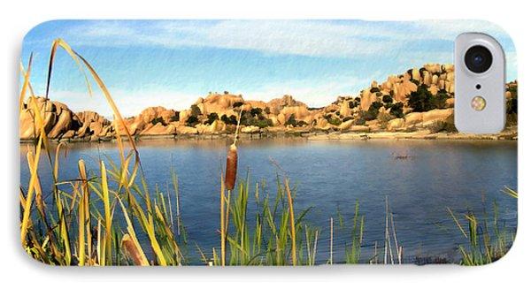Watson Lake Arizona IPhone Case by Kurt Van Wagner