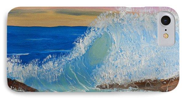Wave At Sunrise Phone Case by Pamela  Meredith