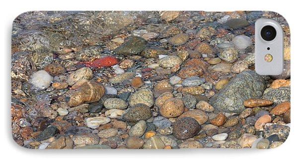 Wave Over Beautiful Rocks Phone Case by Carol Groenen