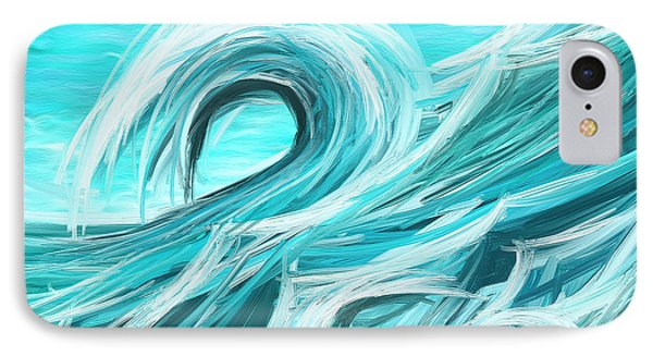 Waves Collision - Abstract Wave Paintings IPhone Case by Lourry Legarde