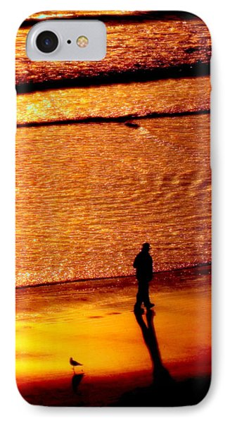 Waves Of Gold Phone Case by Karen Wiles
