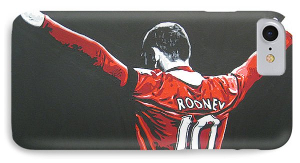 Wayne Rooney - Manchester United Fc 2 IPhone 7 Case by Geo Thomson