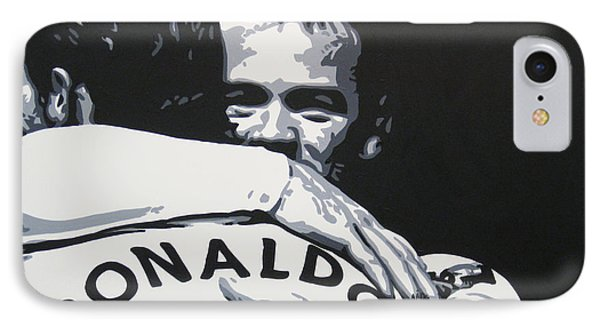 Wayne Rooney And Ronaldo - Manchester United Fc IPhone 7 Case by Geo Thomson