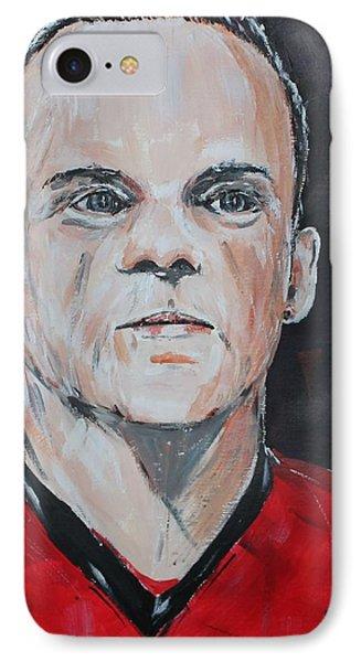 Wayne Rooney IPhone 7 Case by John Halliday