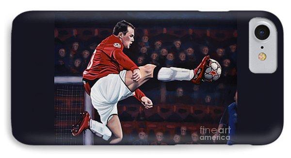 Wayne Rooney IPhone Case by Paul Meijering
