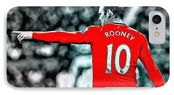 Wayne Rooney Poster Art IPhone 7 Case by Florian Rodarte